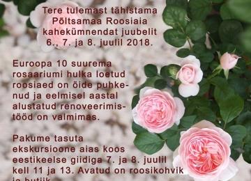 Juubeli roosipäevad tulemas